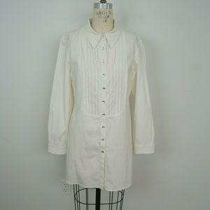 St John Tuxedo Tunic Top Shirt Dress